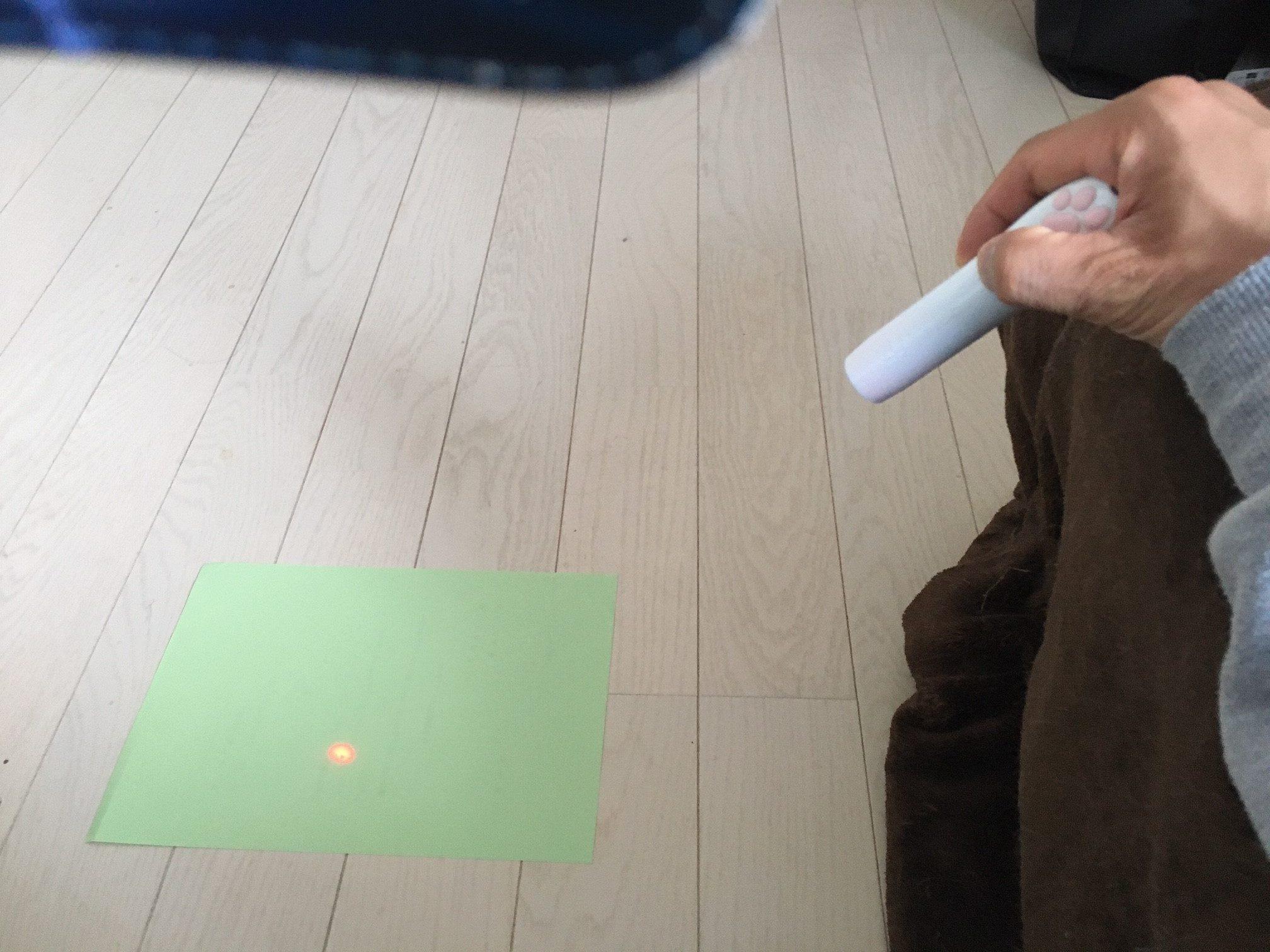 LEDにゃんだろー光線の使い方