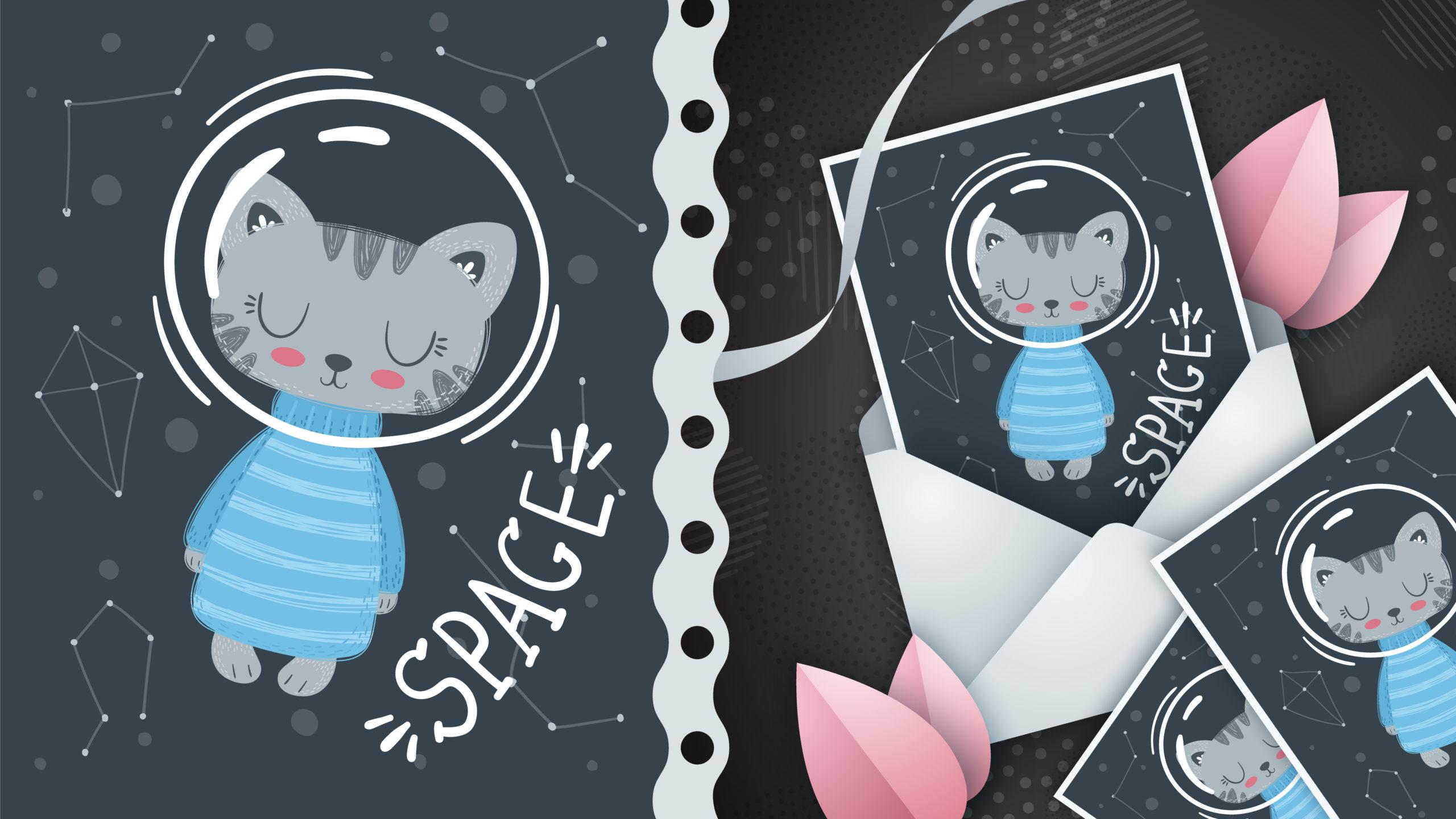 ギャラクシー猫-グリーティングカード