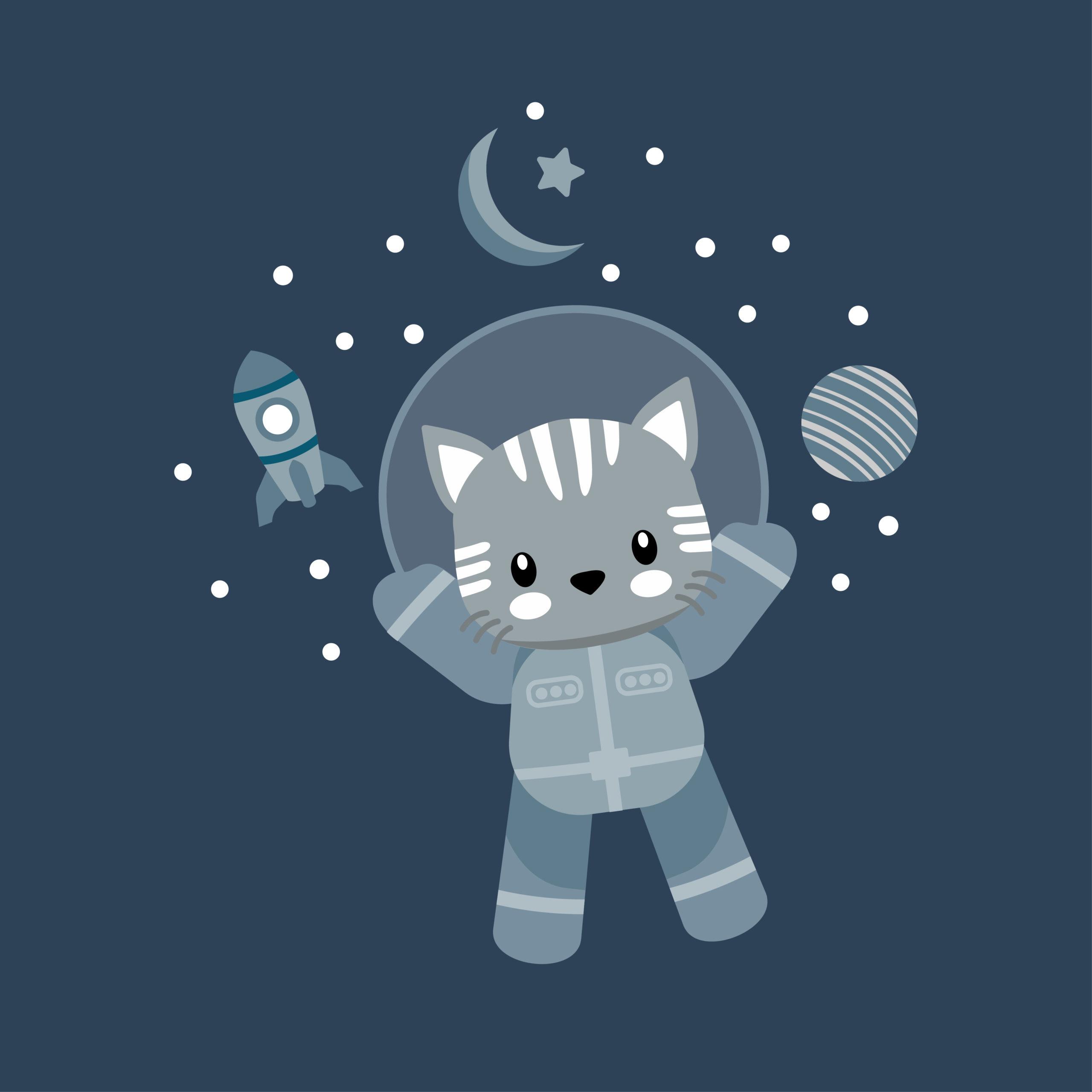 かわいい猫宇宙飛行士