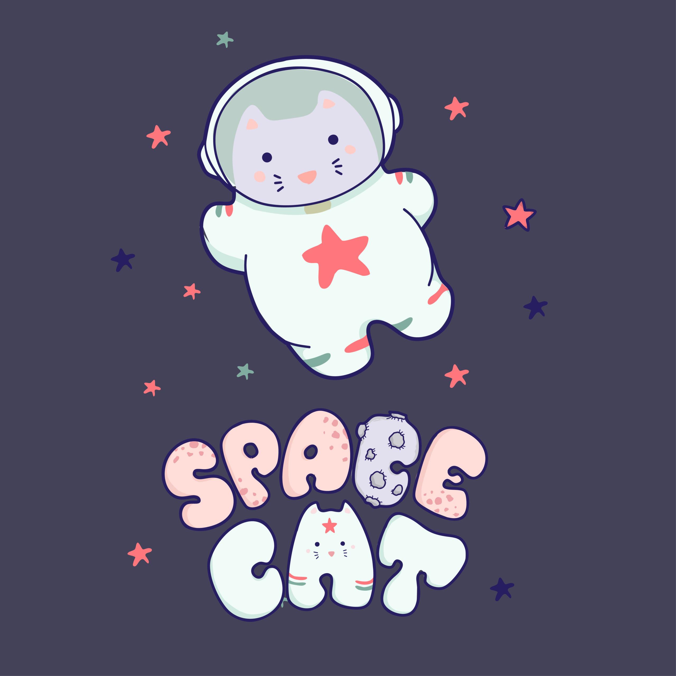かわいい猫が宇宙を旅する
